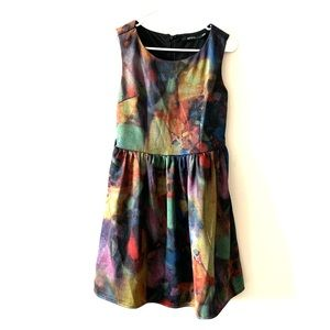 Ark & Co abstract artsy fit and flare dress
